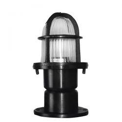 Φωτιστικό κολώνα στεγανή ip23 εδάφους μαύρη με βάση πλαστική (ντουί Ε27) sku : 10-0047