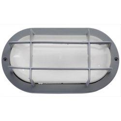 Φωτιστικό χελώνα γκρί πλαστική στεγανή ip44 με πλέγμα (ντουί ε27) sku : 13-0011