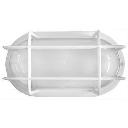 Φωτιστικό χελώνα λευκή πλαστική στεγανή ip44 με πλέγμα (ντουί ε27) sku : 13-0035
