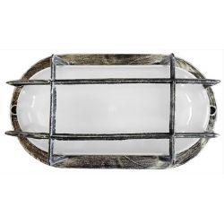 Φωτιστικό χελώνα silver πλαστική στεγανή ip44 με πλέγμα (ντουί ε27) sku : 13-0055