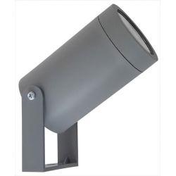 Φωτιστικό σπότ πλαστικό στεγανό ip44 μονής κατεύθυνσης γκρί με βάση & ντουί gu10 sku : C-06 1/L grey