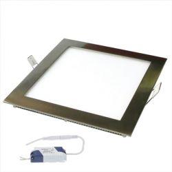 Led panel slim φωτιστικό χωνευτό τετράγωνο νίκελ-μάτ 8watt 230v φυσικό λευκό φώς 4000Κ 500lumen sku: MARA840SNM