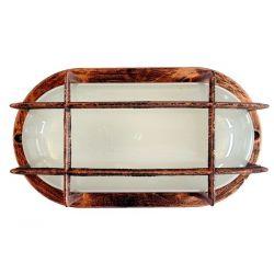 Φωτιστικό χελώνα χαλκός πλαστική στεγανή ip44 με πλέγμα (ντουί ε27) sku : 13-0054