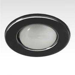 Φωτιστικό σπότ μπαλκονιού χωνευτό μαύρο μεταλλικό με ντουί Ε14 R50 sku: AC.045R50B