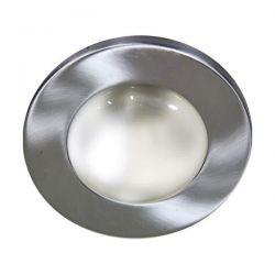 Φωτιστικό σπότ μπαλκονιού χωνευτό νίκελ-μάτ μεταλλικό με ντουί Ε27 R80 sku: AC.045R80NM