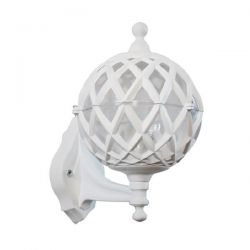 Φωτιστικό απλίκα τοίχου Heronia Lighting μονόφωτη λευκή πλαστική στεγανή ip23 με ντουί Ε27 sku: 07-1230