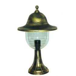 Φωτιστικό κολωνάκι Heronia Lighting μονόφωτο μπρονζέ πλαστικό στεγανό ip23 με ντουί Ε27 sku: 10-0211