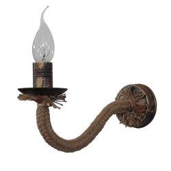 Φωτιστικό απλίκα Heronia Lighting Ø 270mm μεταλλική μπρονζέ με σχοινί & ντουί Ε14 sku: 31-0611
