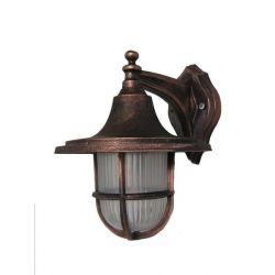 Φωτιστικό απλίκα τοίχου Heronia Lighting μονόφωτη χαλκός πλαστική στεγανή ip23 με ντουί Ε27 sku: 07-1114