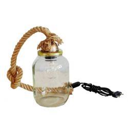 Φωτιστικό πορτατίφ μονόφωτο τριχιά  & βάζο  (ντουί Ε27) σειρά vase rope sku : 31-0087
