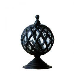 Φωτιστικό κολώνα Heronia Lighting μονόφωτη μαύρη πλαστική στεγανή ip23 με ντουί Ε27 sku: 10-0106