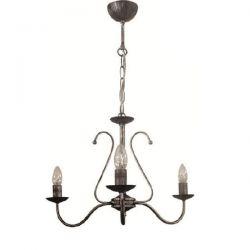 Φωτιστικό κρεμαστό Heronia Lighting Ø 350mm τρίφωτο μεταλλικό silver & ντουί Ε14 sku: 01-0166