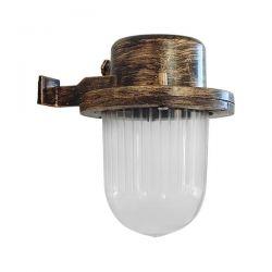 Φωτιστικό φανάρι τοίχου Heronia Lighting μονόφωτο μπρονζέ πλαστικό στεγανό ip23 με ντουί Ε27 sku: 07-1250
