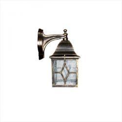 Φωτιστικό απλίκα τοίχου Heronia Lighting μονόφωτη μπρονζέ πλαστική στεγανή ip23 με ντουί Ε27 sku: 07-1077