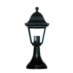 Φωτιστικό κολωνάκι Heronia Lighting μονόφωτο 31CM μαύρο πλαστικό στεγανό ip23 με ντουί Ε27 sku: 10-0094