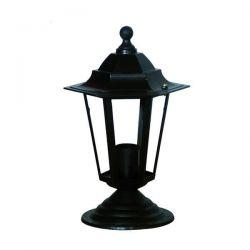 Φωτιστικό κολωνάκι Heronia Lighting μονόφωτο 300mm μαύρο πλαστικό στεγανό ip23 με ντουί Ε27 sku: 10-0176