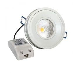 Led φωτιστικό χωνευτό κινητό 10W 2700k θερμό λευκό φως 700Lm 230V με cob δέσμης 60° sku: BEL1027