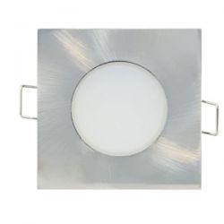 Led σποτ μπάνιου νίκελ ματ τετράγωνο χωνευτό 5W 230V 6000k ψυχρό φως 420lm στεγανό IP65 sku: VERA560SNM