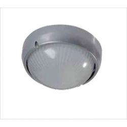 Φωτιστικό πλαφονιέρα αλουμινίου οροφής στρόγγυλη στεγανή ip44 γκρί Φ19 για λάμπες Led E27