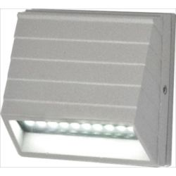 Led φωτιστικό επίτοιχο αλουμινίου κυρτό σατινέ 2watt με 10 led 230V στεγανό ip54 ψυχρό λευκό