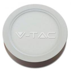 Φωτιστικό οροφής Led Surface panel στρογγυλό 22 watt Ø240mm AC185-245V Samsung chip ψυχρό λευκό 6000Κ