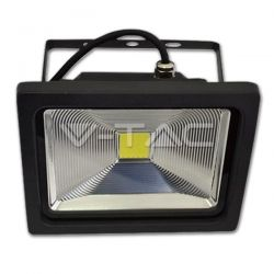 Led προβολέας 30 watt 220 V v-tac classic ip65 premium reflector (graphite body) θερμό λευκό 2700-3300Κ