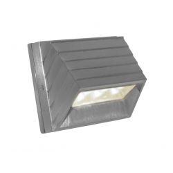 Led φωτιστικό επίτοιχο αλουμινίου κυρτό σατινέ 2watt με 10 led 230V στεγανό ip54 θερμό λευκό