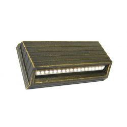 Led φωτιστικό επίτοιχο αλουμινίου κυρτό ρουστίκ 3.2watt με 18 led 230V στεγανό ip54 θερμό λευκό