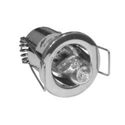 Φωτιστικό σπότ χωνευτό αλουμινίου στρογγυλό σταθερό χρώμιο για λάμπες Led G4 12V & 230V