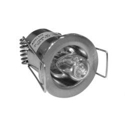 Φωτιστικό σπότ χωνευτό αλουμινίου στρογγυλό σταθερό σατινέ για λάμπες Led G4 12V & 230V