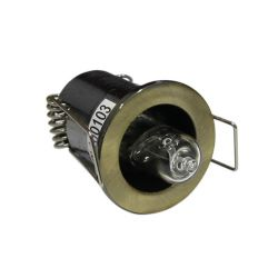 Φωτιστικό σπότ χωνευτό αλουμινίου στρογγυλό σταθερό αντικέ για λάμπες Led G4 12V & 230V