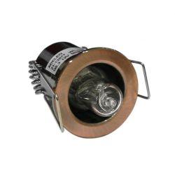 Φωτιστικό σπότ χωνευτό αλουμινίου στρογγυλό σταθερό χαλκός μάτ για λάμπες Led G4 12V & 230V