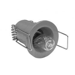 Φωτιστικό σπότ χωνευτό αλουμινίου στρογγυλό σταθερό γκρί για λάμπες Led G4 12V & 230V