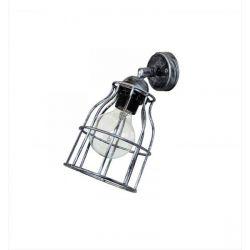 Φωτιστικό απλίκα τοίχου κλουβί Heronia Lighting μονόφωτη μαύρη (ντουί Ε27) σειρά vintage net FUN-10KEY Κωδικός : 31-0161