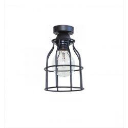 Φωτιστικό απλίκα οροφής κλουβί Heronia Lighting μονόφωτη ασημί (ντουί Ε27) σειρά vintage net Κωδικός : 31-0275