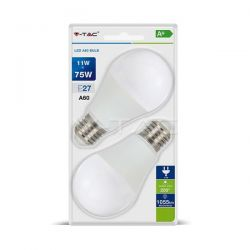 Λάμπα led v-tac αχλάδι Ε27 11watt 230v/ac θερμό λευκό 2700Κ 1055lumen Κωδικός: 7297