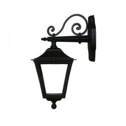 Φωτιστικό απλίκα down τοίχου Heronia Lighting μονόφωτη μαύρη πλαστική στεγανή ip23 με ντουί Ε27 Κωδικός: 07-0066