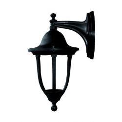 Φωτιστικό απλίκα τοίχου Heronia Lighting 325mm μονόφωτη μαύρη πλαστική στεγανή ip23 με ντουί Ε27 sku: 07-1062