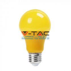 Λάμπα led v-tac τύπου αχλάδι a60 9watt 230v κίτρινου χρώματος 570lumen Κωδικός: 7342