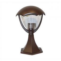 Φωτιστικό φανάρι επιδαπέδιο adeleq-lumen σκουριά Ø 200mm με σώμα αλουμινίου για ντουί Ε27 στεγανό ip44 Κωδικός: 9-3607481