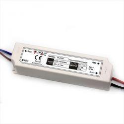 Τροφοδοτικό - led driver 60W 230V στα 12VDC για ταινίες & λάμπες LED πλαστικό στεγανό IP67 Κωδικός : 3234