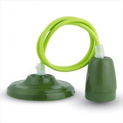 Φωτιστικό v-tac κρεμαστό μονόφωτο πορσελάνης  Ø 47 mm πράσινο με ντουί Ε27 Κωδικός : 3805