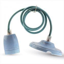 Φωτιστικό v-tac κρεμαστό μονόφωτο πορσελάνης  Ø 47 mm γαλάζιο με ντουί Ε27 Κωδικός : 3806