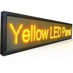 Ηλεκτρονική επιγραφή LED μονής όψης 96 x 16 cm αδιάβροχη Ελληνικής κατασκεύης πορτοκαλί χρώμα Κωδικος : 096016MU-orange