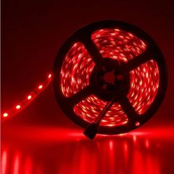Led ταινία αυτοκόλλητη 4.8w/m 12vdc 60led3528/m μη στεγανή ip20 κόκκινο φώς Κωδικός : LS20-00102