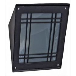 Φωτιστικό απλίκα Heronia Lighting μονόφωτη μαύρη με ντουί Ε27 SLP-30A Κωδικός : 32-0070
