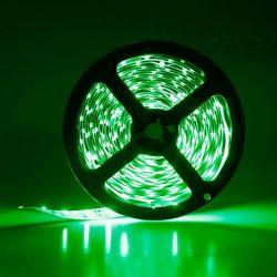 Led ταινία αυτοκόλλητη 4.8w/m 12vdc 60led3528/m στεγανή ip65 πράσινο φώς Κωδικός : LS65-00203