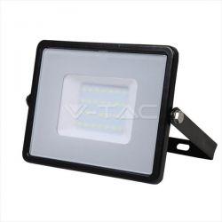 Προβολέας led v-tac με samsung chip 30w 230v μαύρο σώμα θερμό λευκό 3000Κ 2400lm Κωδικός: 400