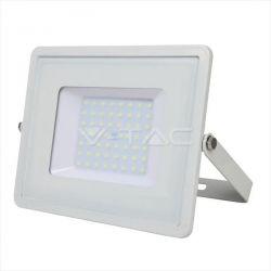 Προβολέας led v-tac με samsung chip 50w 230v λευκό σώμα θερμό λευκό 3000Κ 4000lm Κωδικός: 409