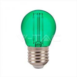 Λάμπα led v-tac σφαιρική g45 2watt 230v πράσινου χρώματος Κωδικός: 7411